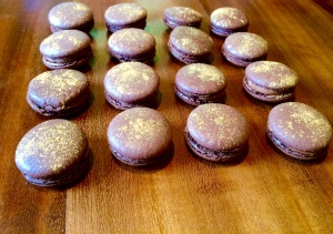 Chocolate, Espresso and Hazelnut Macaroons