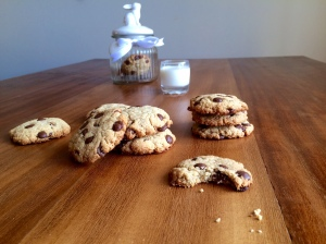 Choc chip cookies and jar