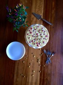 Whimsical White Chocolate and Raspberry Tart