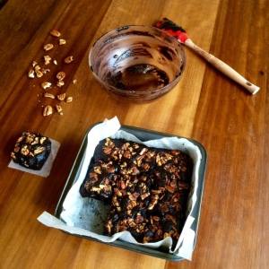 Bacon, maple and pecan brownies