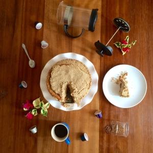 Coffe Crumb Cake arial shot