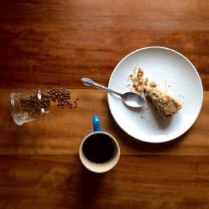 Slice of coffee crumb cake