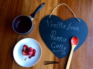 Panna Cotta wooden spoon