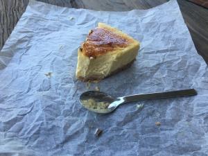Creme Brûlée Cheesecake slice